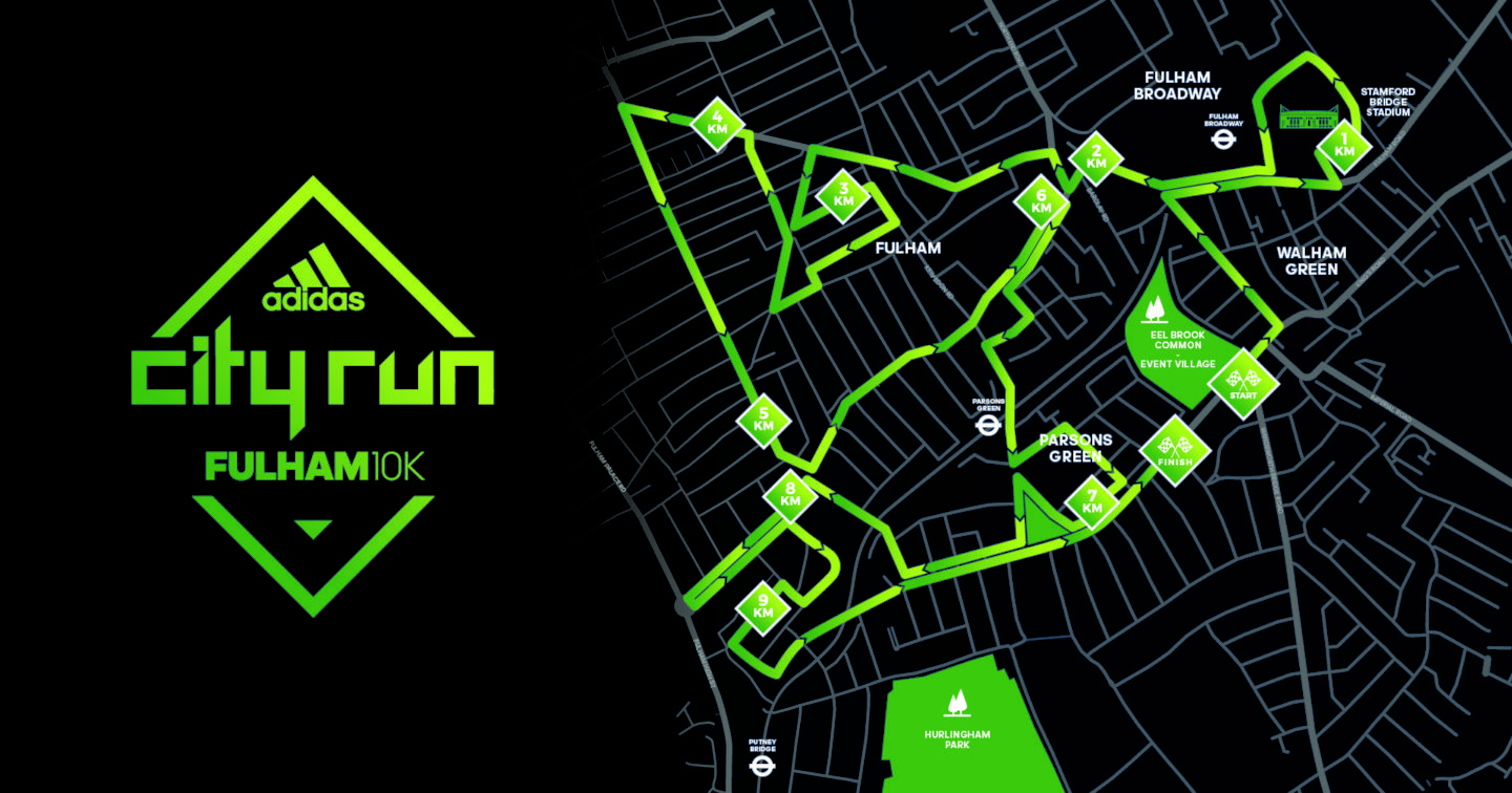 The Fulham 10k Route